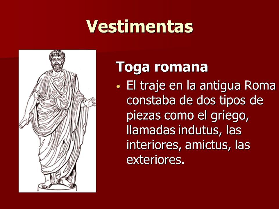 Vestimentas Toga romana
