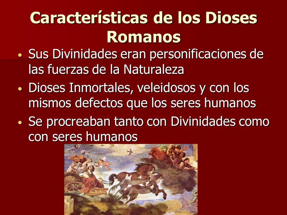 Características de los Dioses Romanos