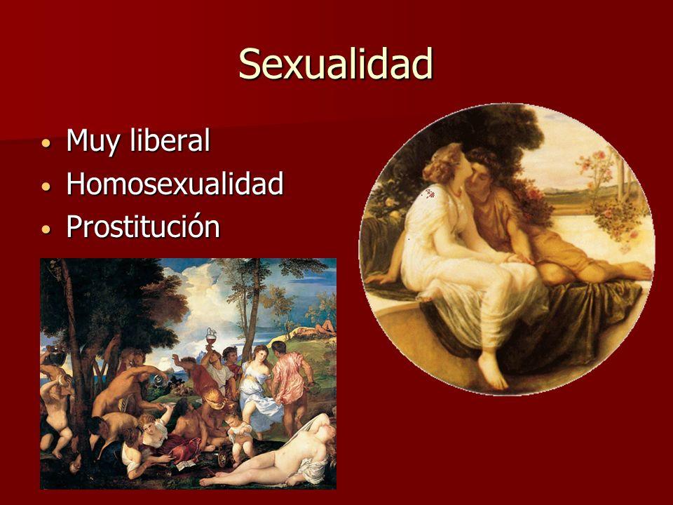 Sexualidad Muy liberal Homosexualidad Prostitución