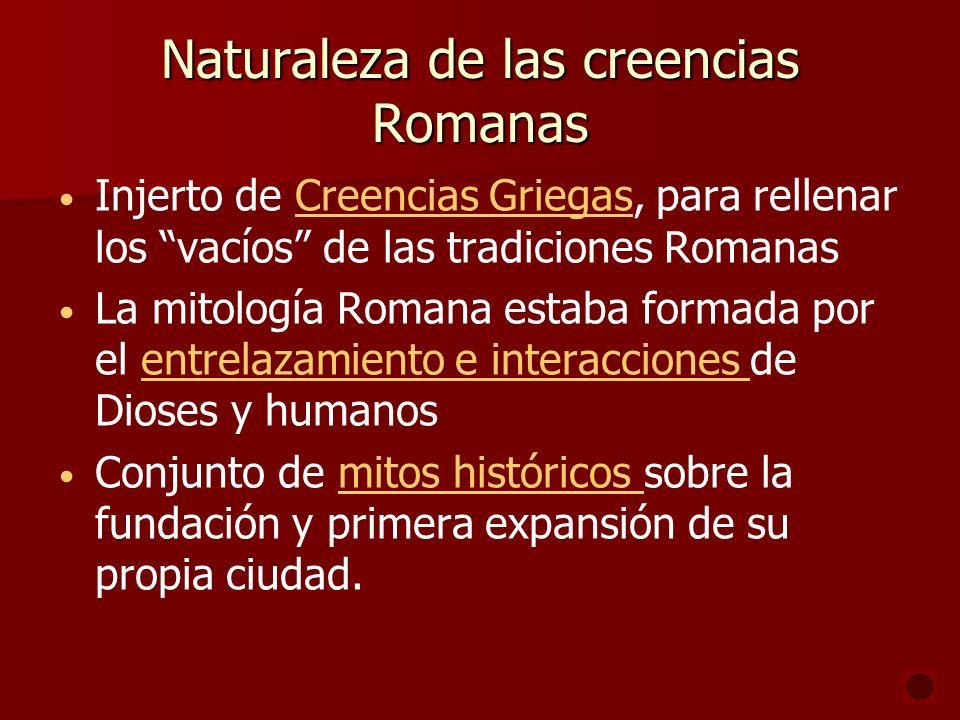 Naturaleza de las creencias Romanas