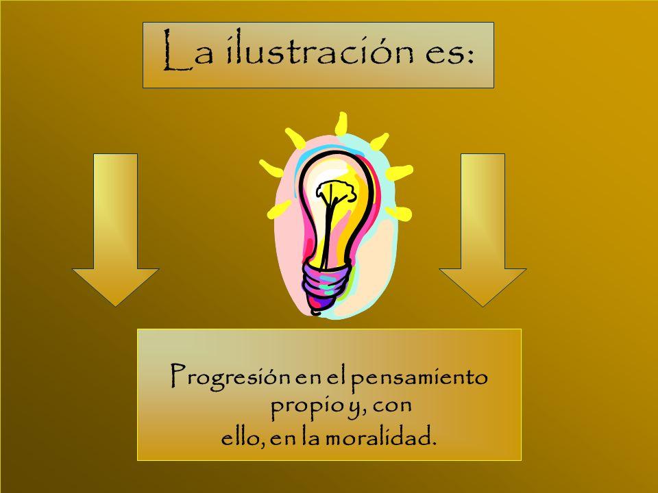 Progresión en el pensamiento propio y, con