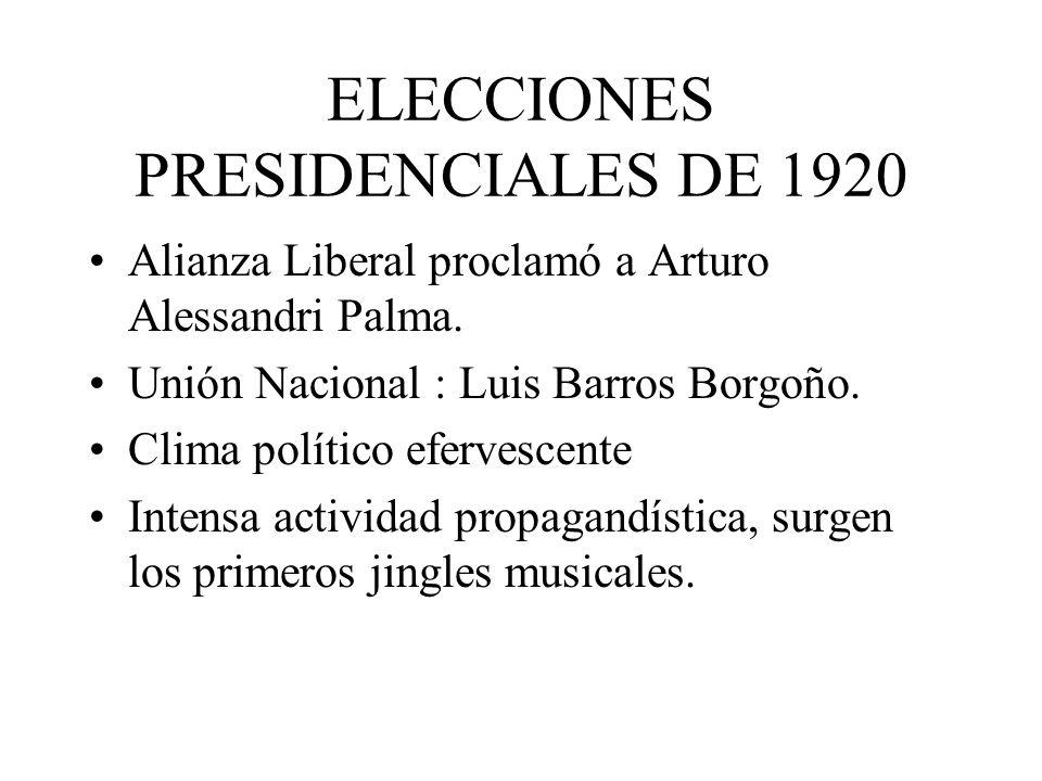 ELECCIONES PRESIDENCIALES DE 1920