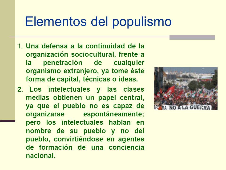 Elementos del populismo