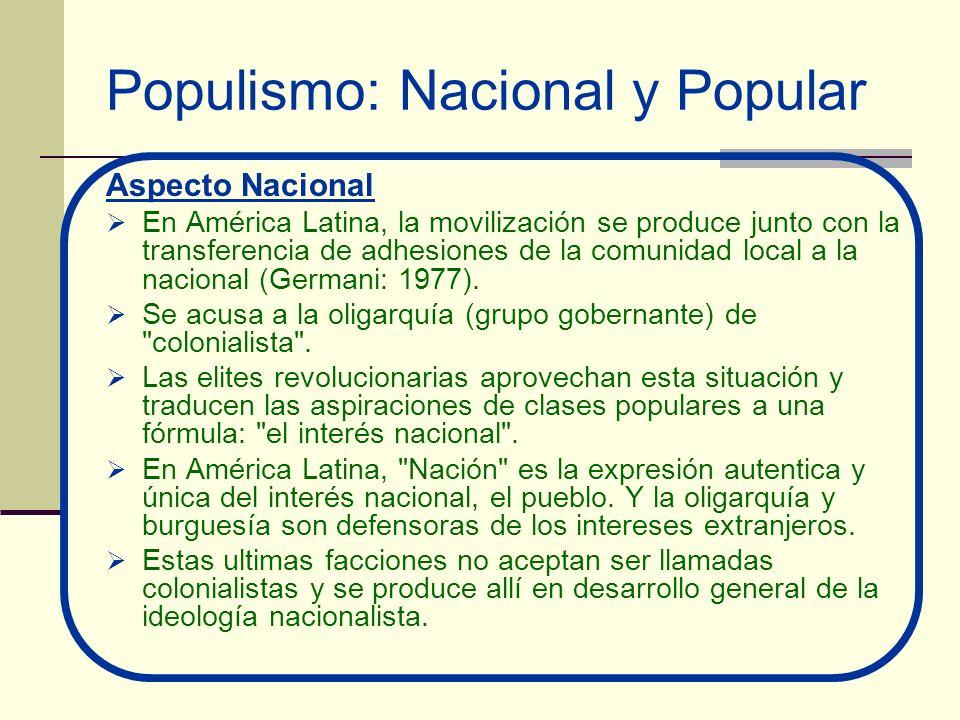 Populismo: Nacional y Popular