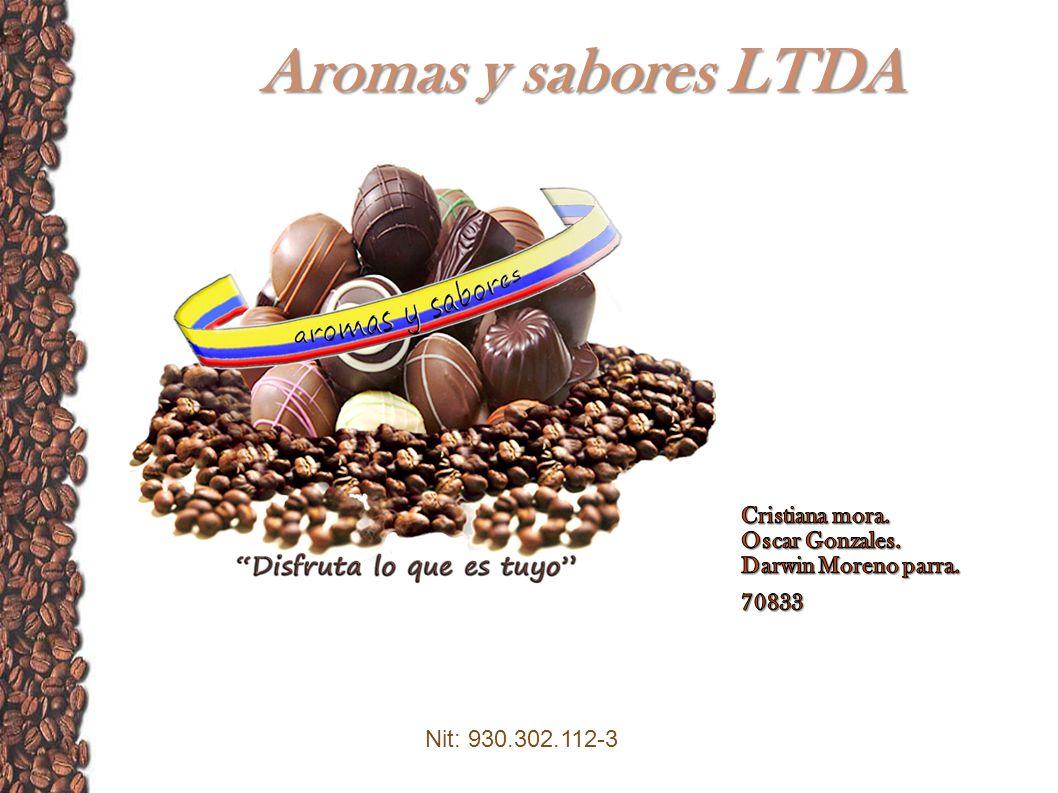 Aromas y sabores LTDA Cristiana mora. Oscar Gonzales.