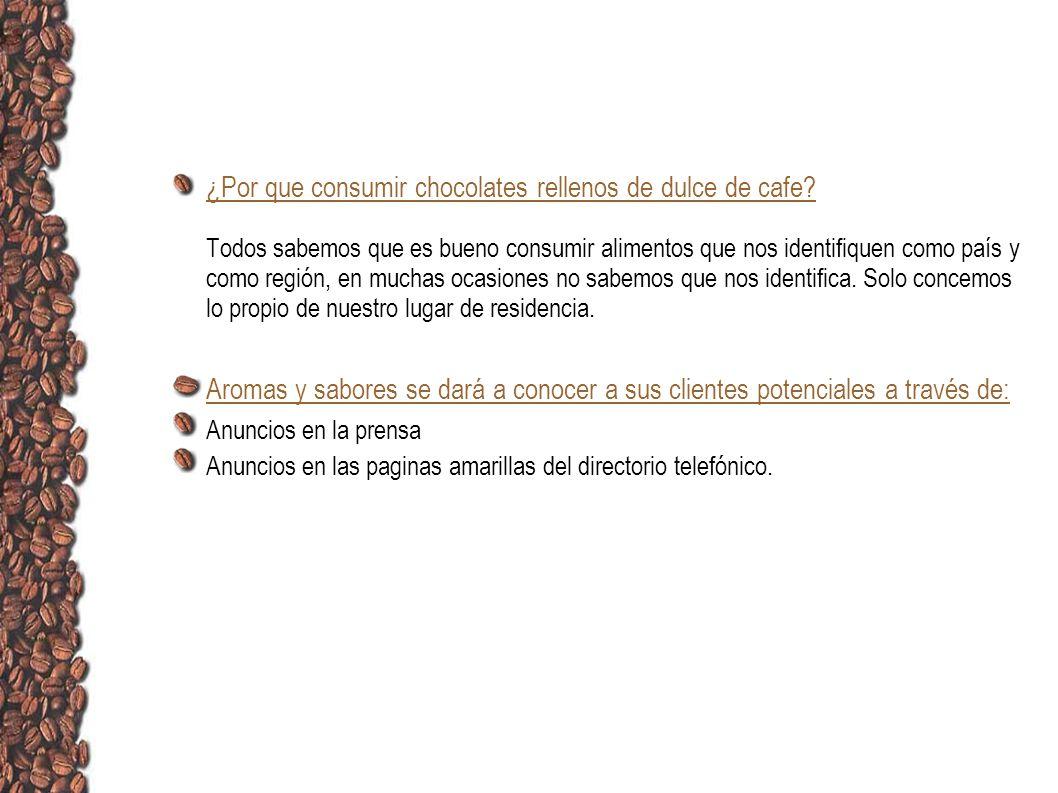 ¿Por que consumir chocolates rellenos de dulce de cafe