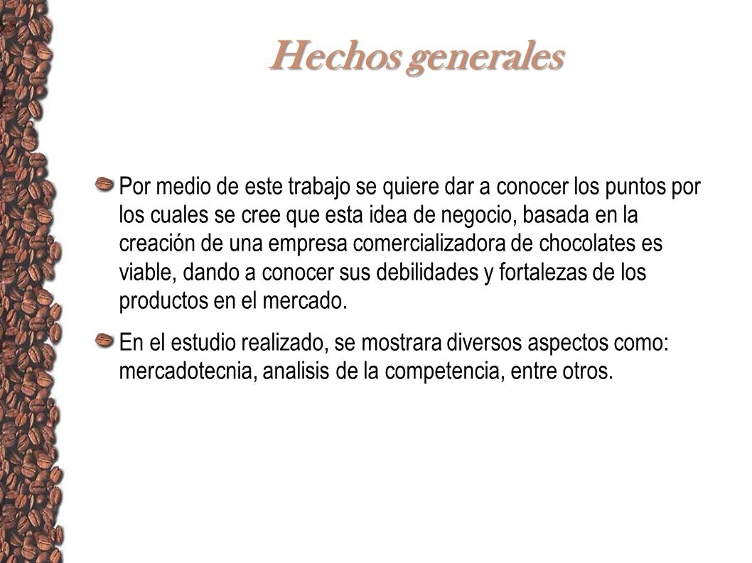 Hechos generales