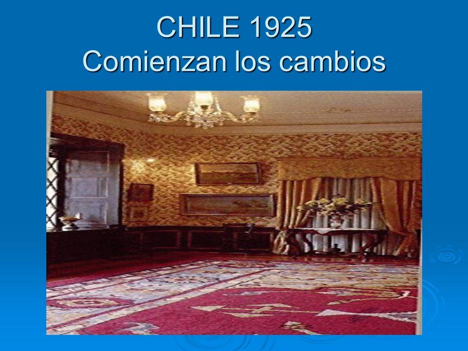 CHILE 1925 Comienzan los cambios