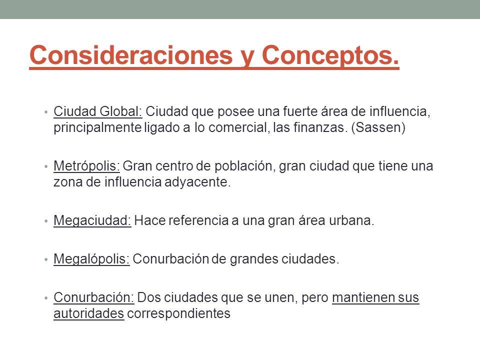 Consideraciones y Conceptos.