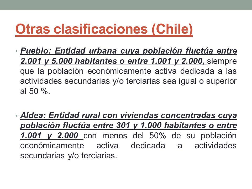 Otras clasificaciones (Chile)