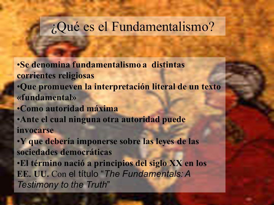 ¿Qué es el Fundamentalismo