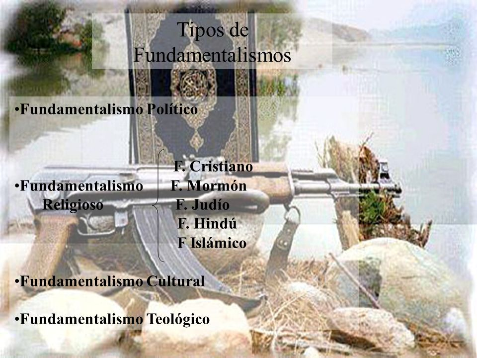 Tipos de Fundamentalismos