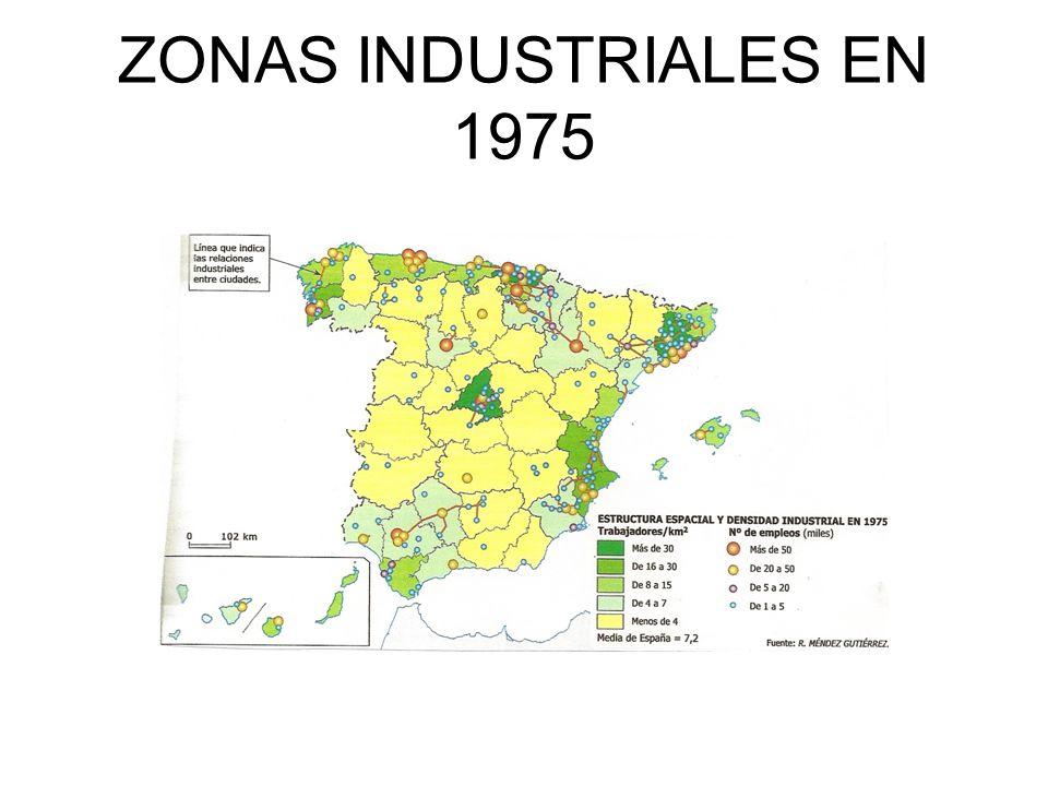ZONAS INDUSTRIALES EN 1975