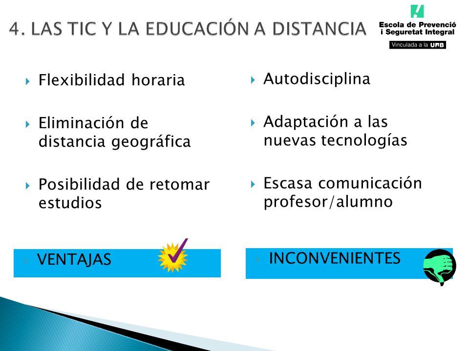 4. LAS TIC Y LA EDUCACIÓN A DISTANCIA