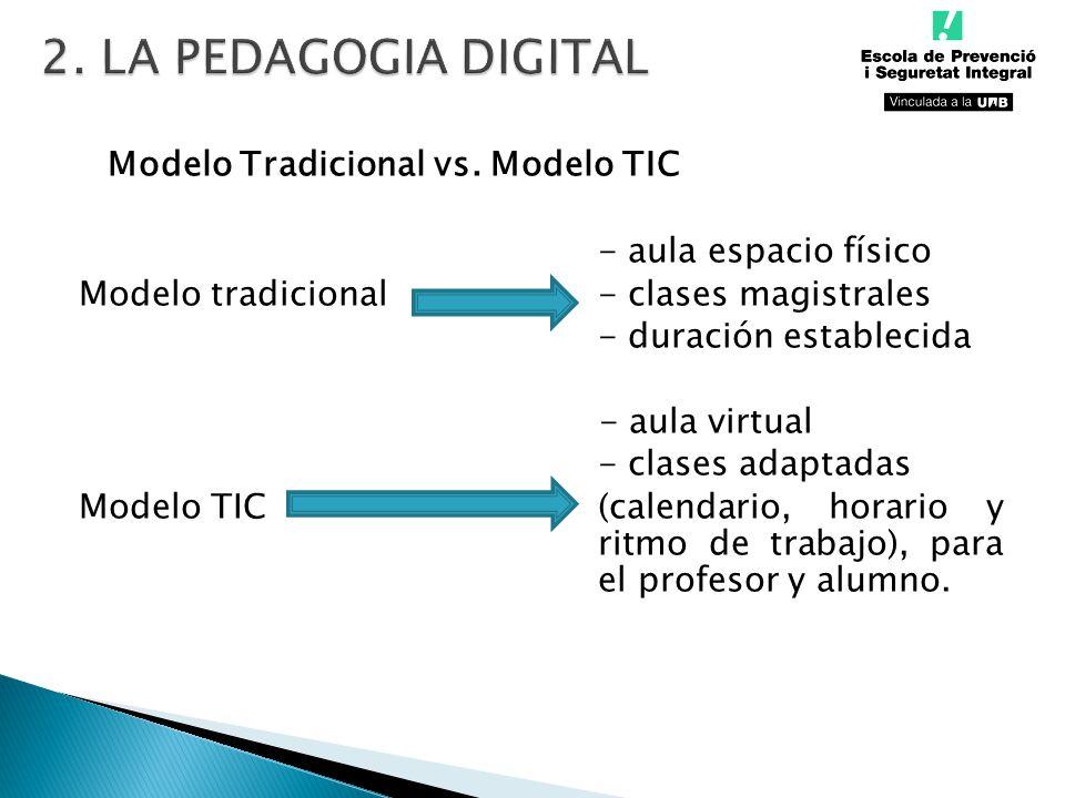 2. LA PEDAGOGIA DIGITAL Modelo Tradicional vs. Modelo TIC