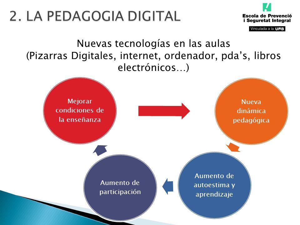 2. LA PEDAGOGIA DIGITAL Nuevas tecnologías en las aulas