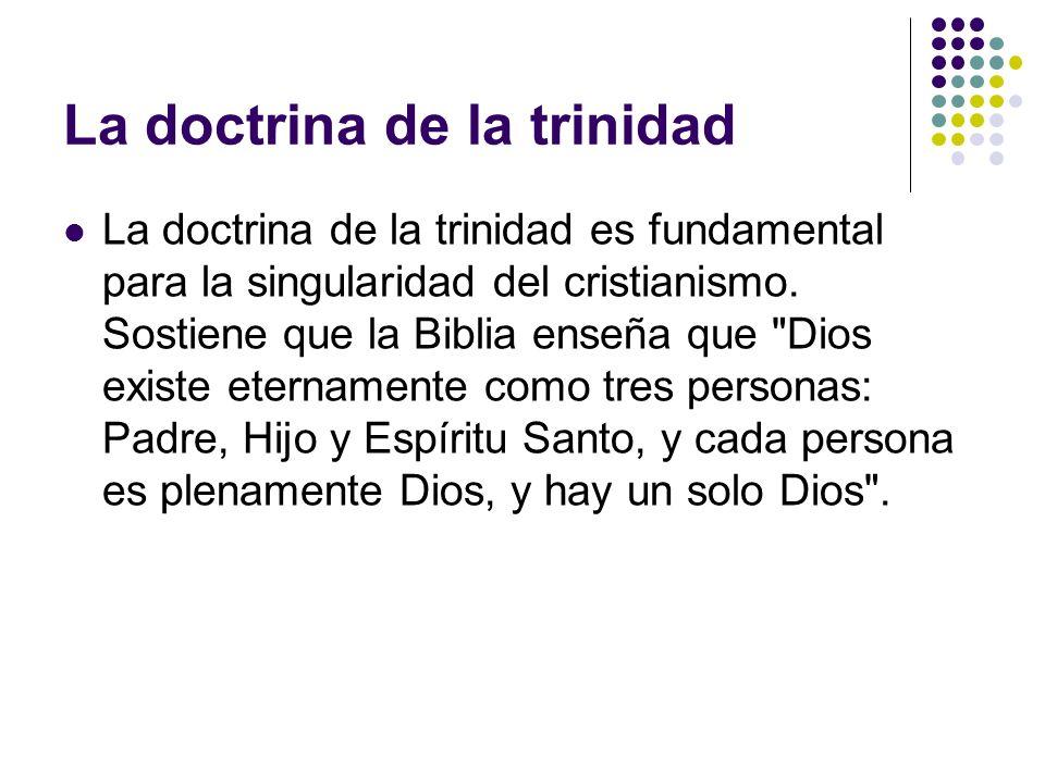 La doctrina de la trinidad