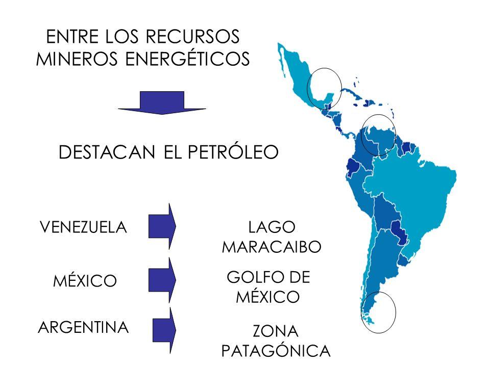 ENTRE LOS RECURSOS MINEROS ENERGÉTICOS