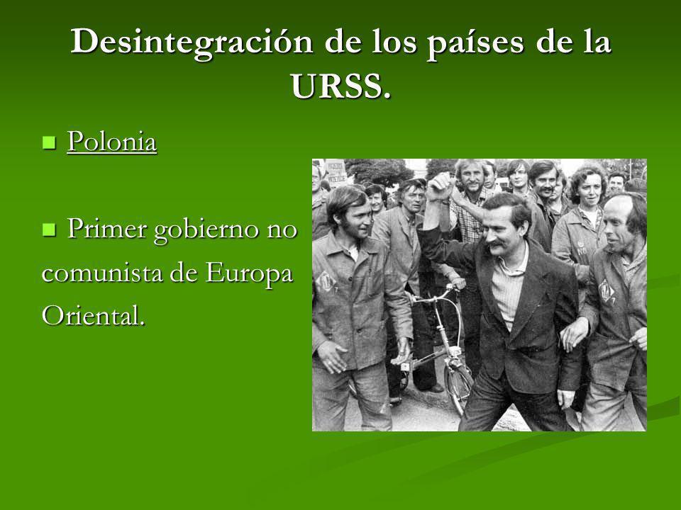Desintegración de los países de la URSS.