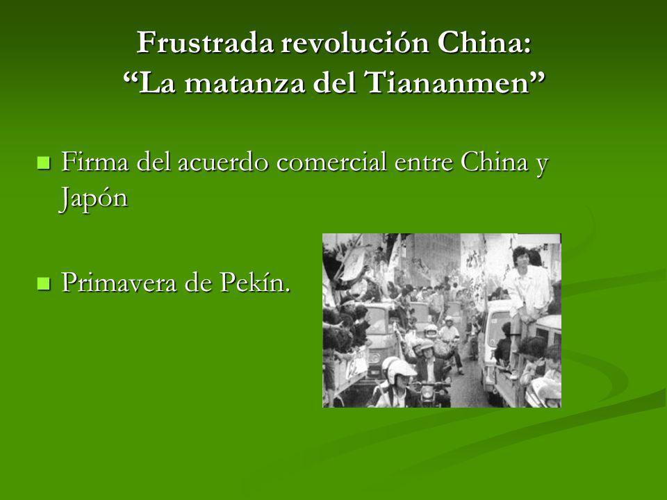 Frustrada revolución China: La matanza del Tiananmen