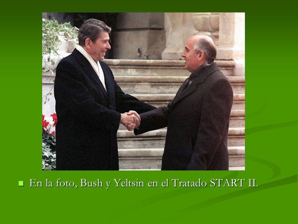 En la foto, Bush y Yeltsin en el Tratado START II.