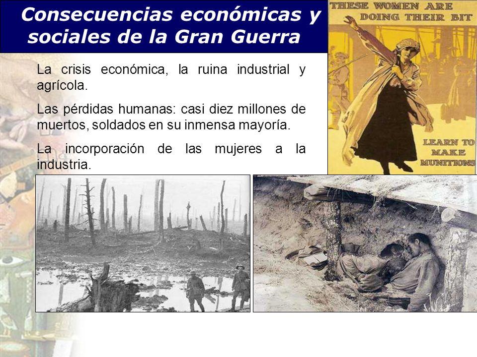 Consecuencias económicas y sociales de la Gran Guerra