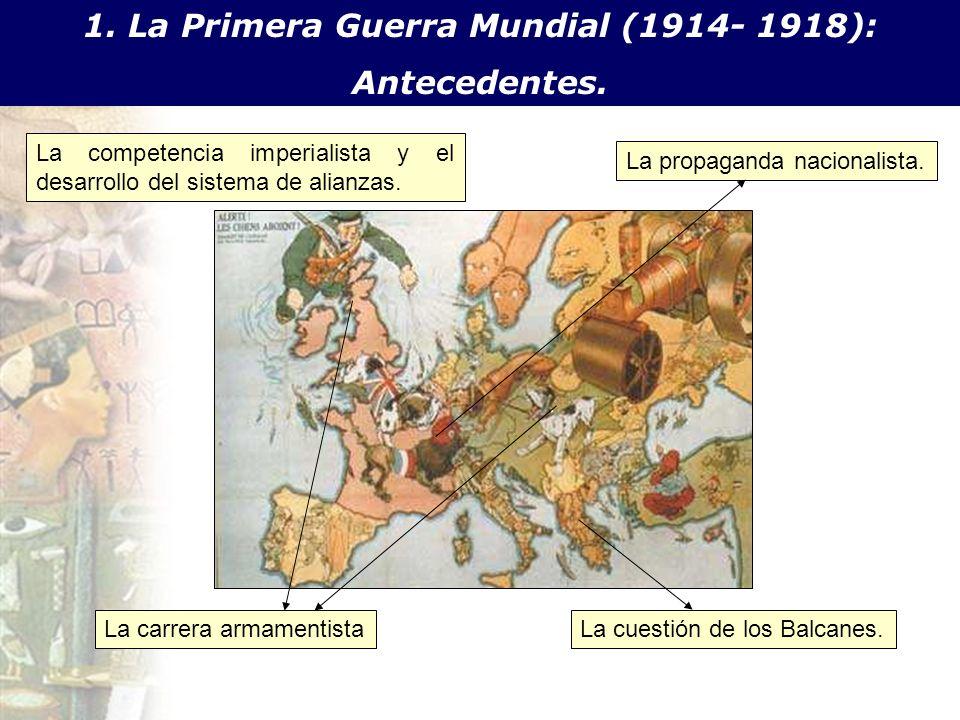 1. La Primera Guerra Mundial (1914- 1918):