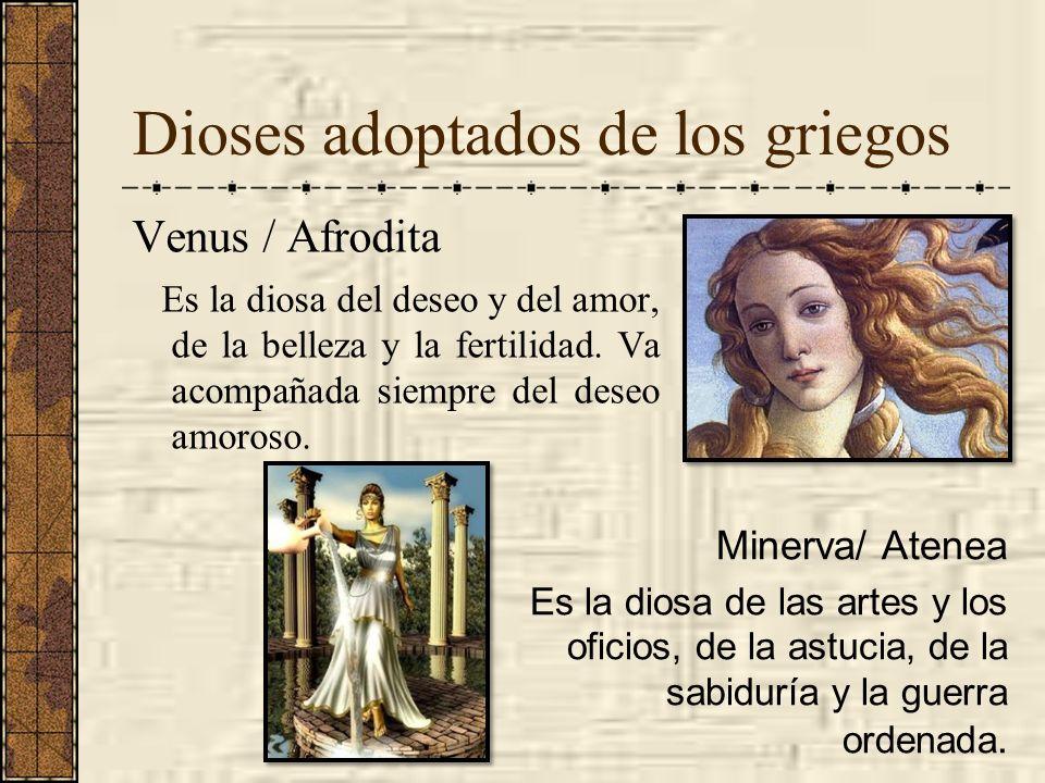 Dioses adoptados de los griegos