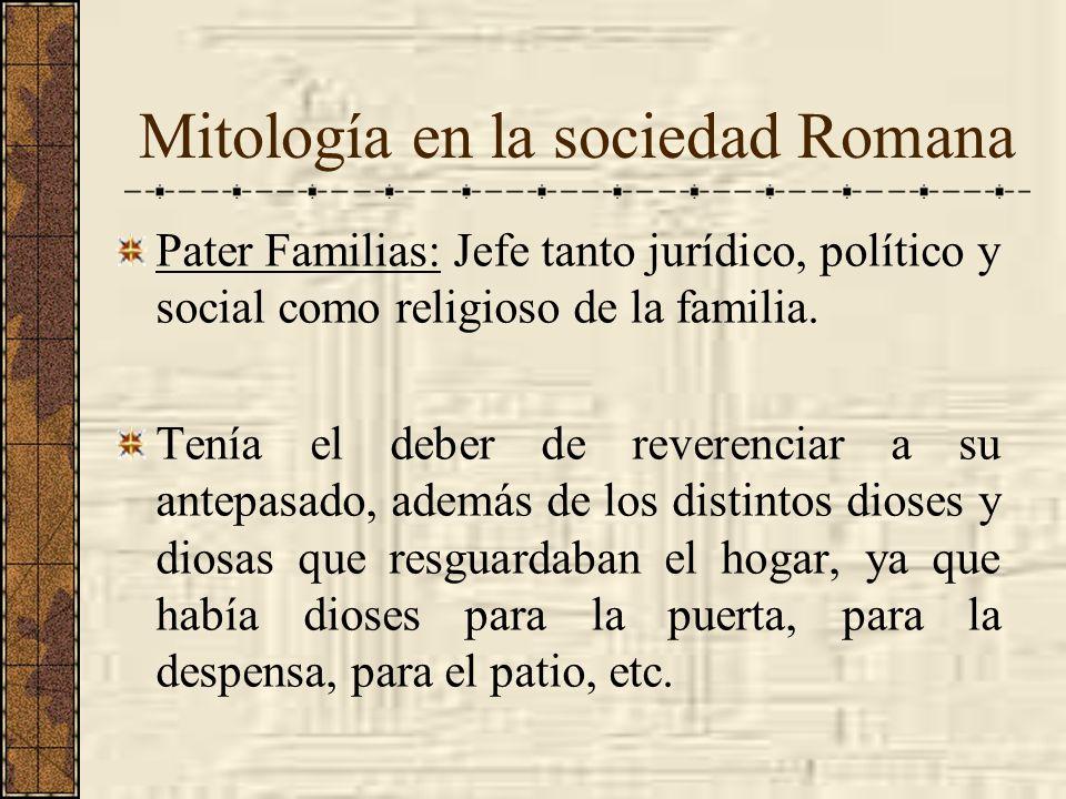 Mitología en la sociedad Romana