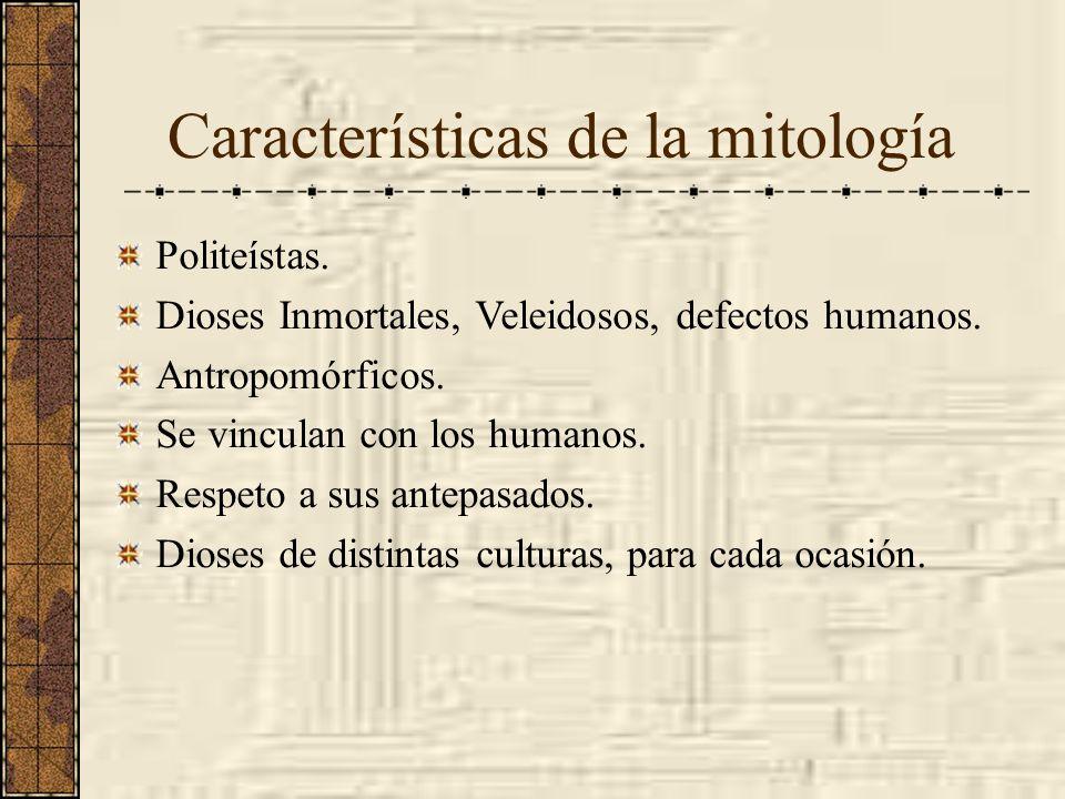 Características de la mitología
