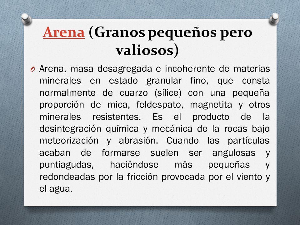 Arena (Granos pequeños pero valiosos)