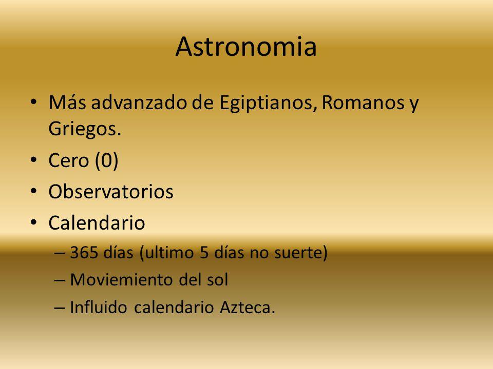 Astronomia Más advanzado de Egiptianos, Romanos y Griegos. Cero (0)