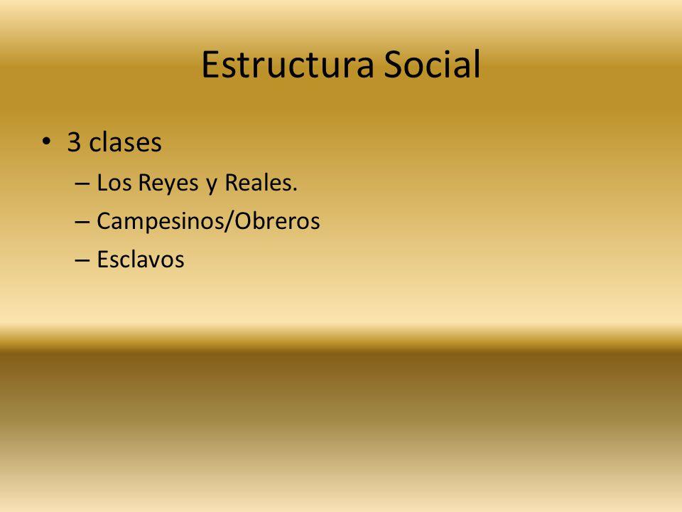 Estructura Social 3 clases Los Reyes y Reales. Campesinos/Obreros