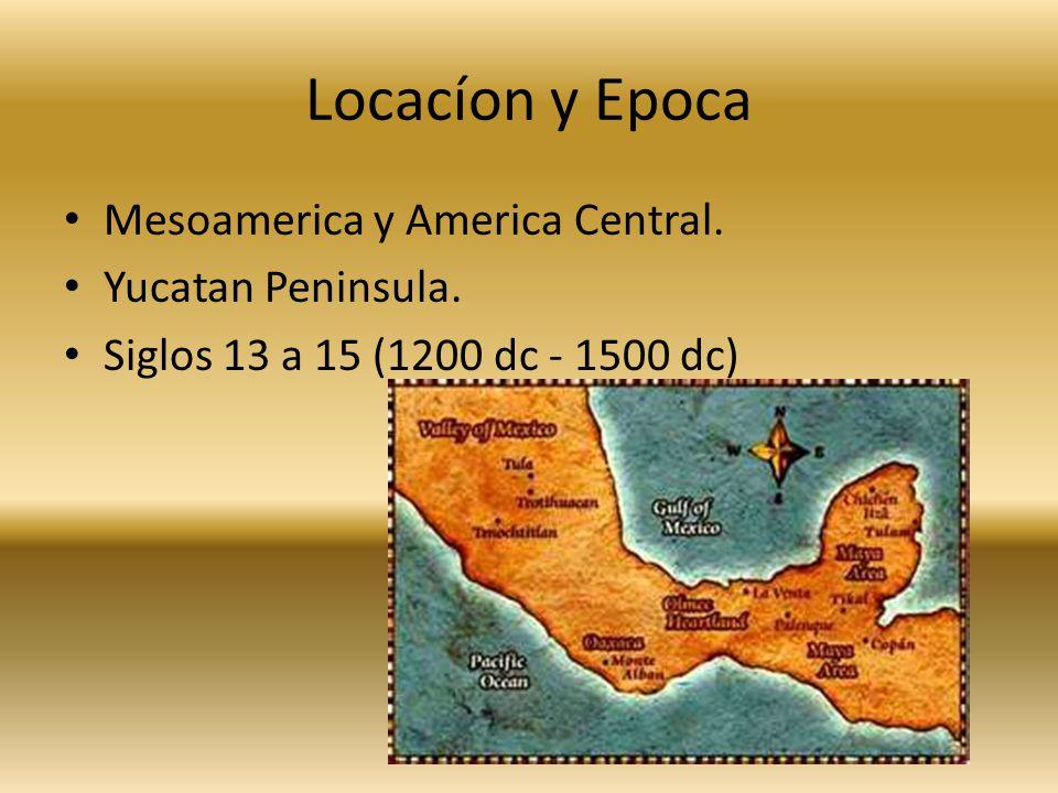 Locacíon y Epoca Mesoamerica y America Central. Yucatan Peninsula.