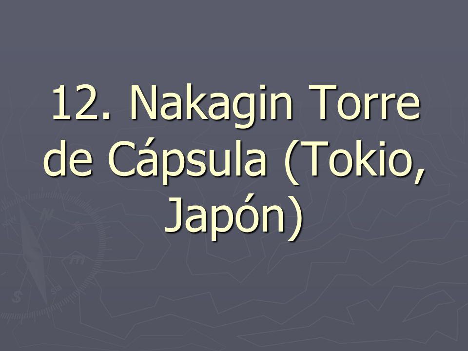 12. Nakagin Torre de Cápsula (Tokio, Japón)