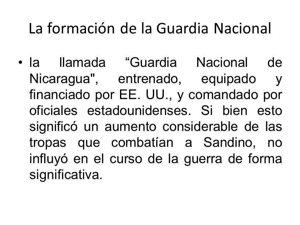 La formación de la Guardia Nacional