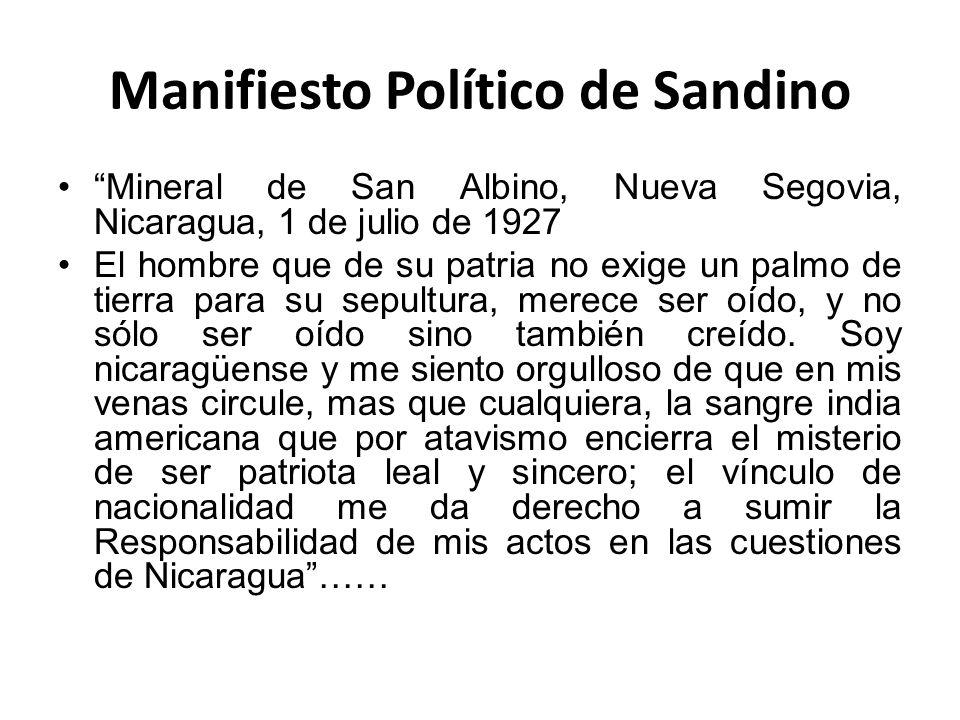 Manifiesto Político de Sandino