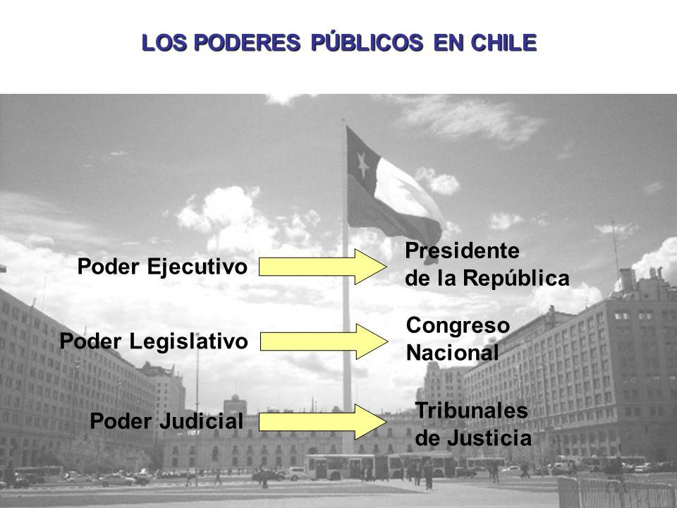 LOS PODERES PÚBLICOS EN CHILE