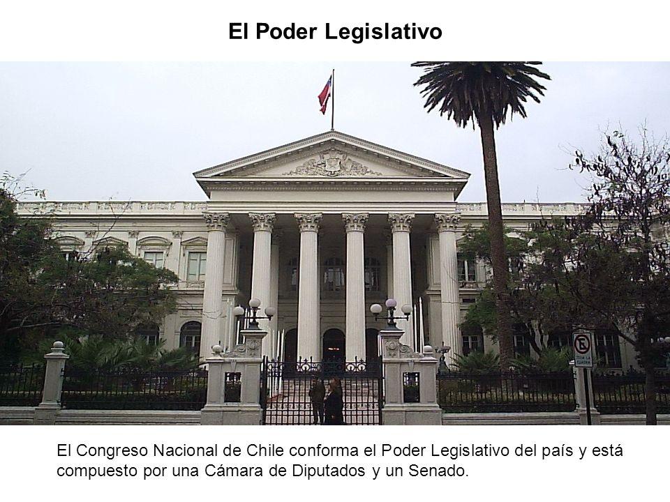 El Poder Legislativo El Congreso Nacional de Chile conforma el Poder Legislativo del país y está compuesto por una Cámara de Diputados y un Senado.