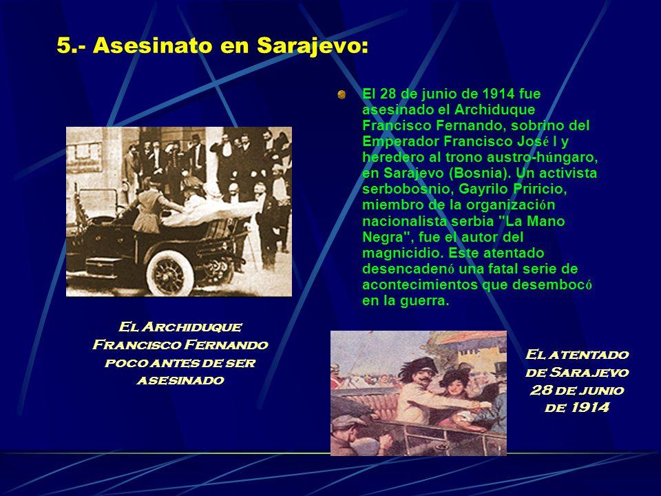 5.- Asesinato en Sarajevo:
