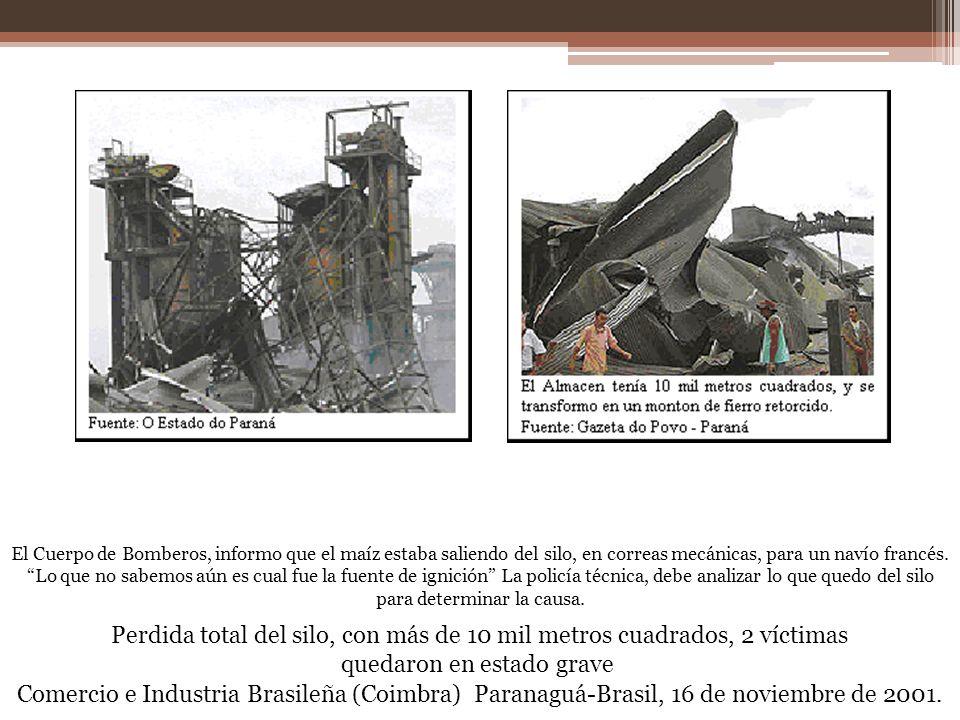 El Cuerpo de Bomberos, informo que el maíz estaba saliendo del silo, en correas mecánicas, para un navío francés. Lo que no sabemos aún es cual fue la fuente de ignición La policía técnica, debe analizar lo que quedo del silo para determinar la causa.
