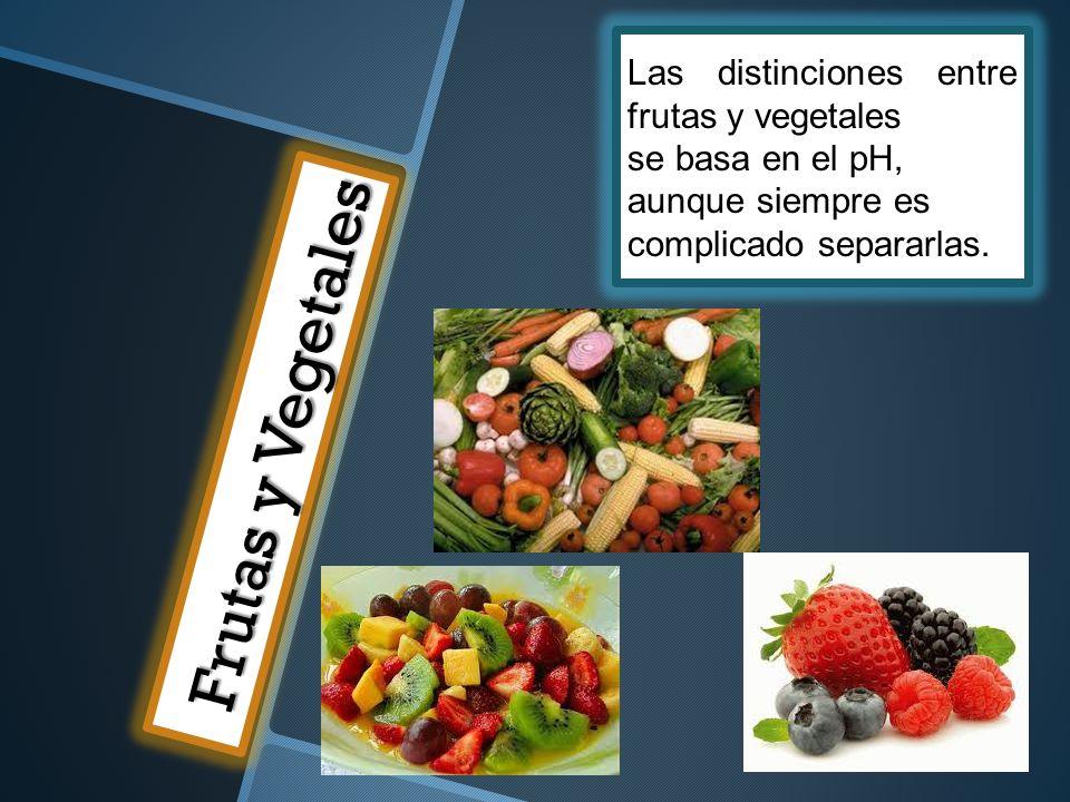 Frutas y Vegetales Las distinciones entre frutas y vegetales