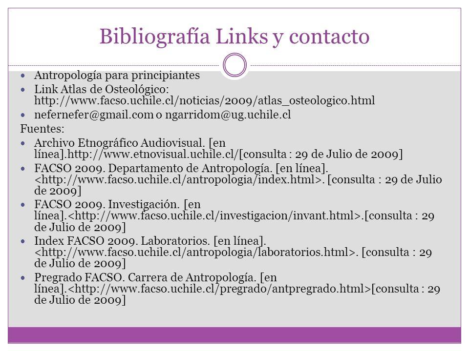 Bibliografía Links y contacto