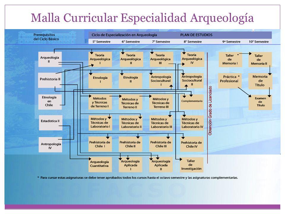 Malla Curricular Especialidad Arqueología