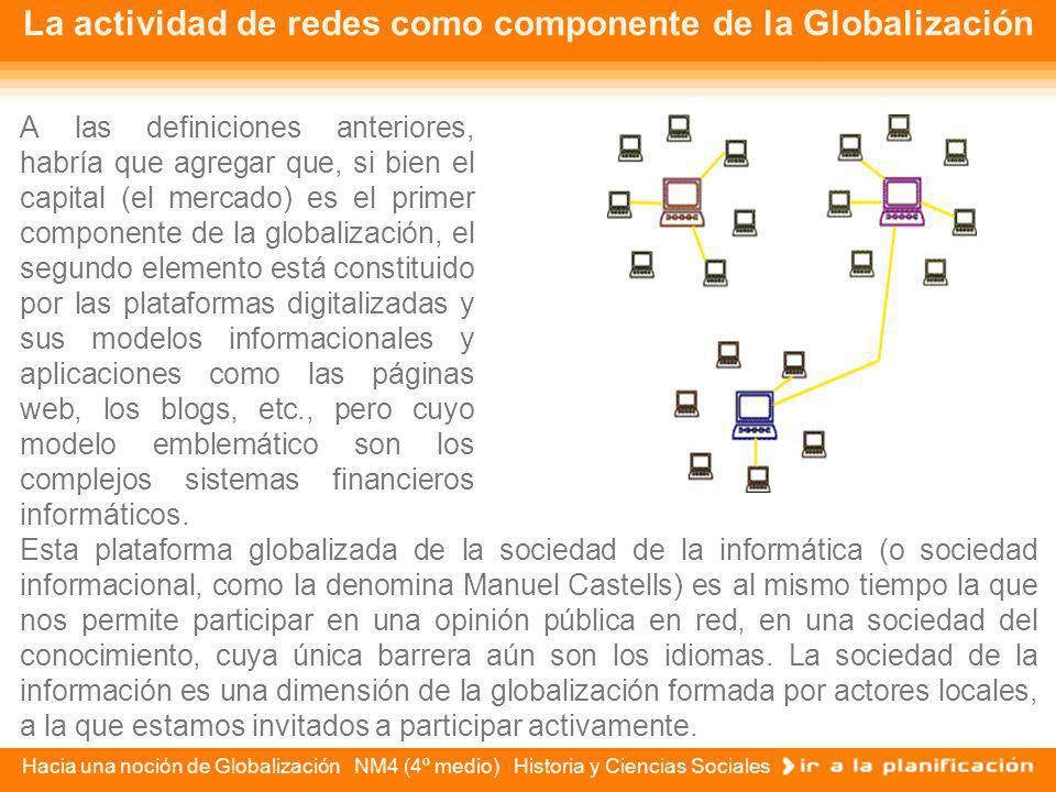 La actividad de redes como componente de la Globalización