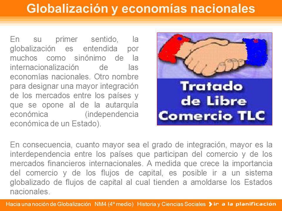 Globalización y economías nacionales