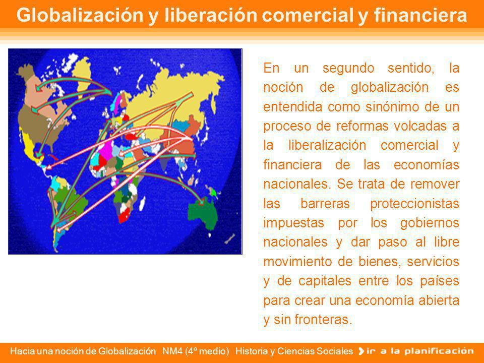 Globalización y liberación comercial y financiera
