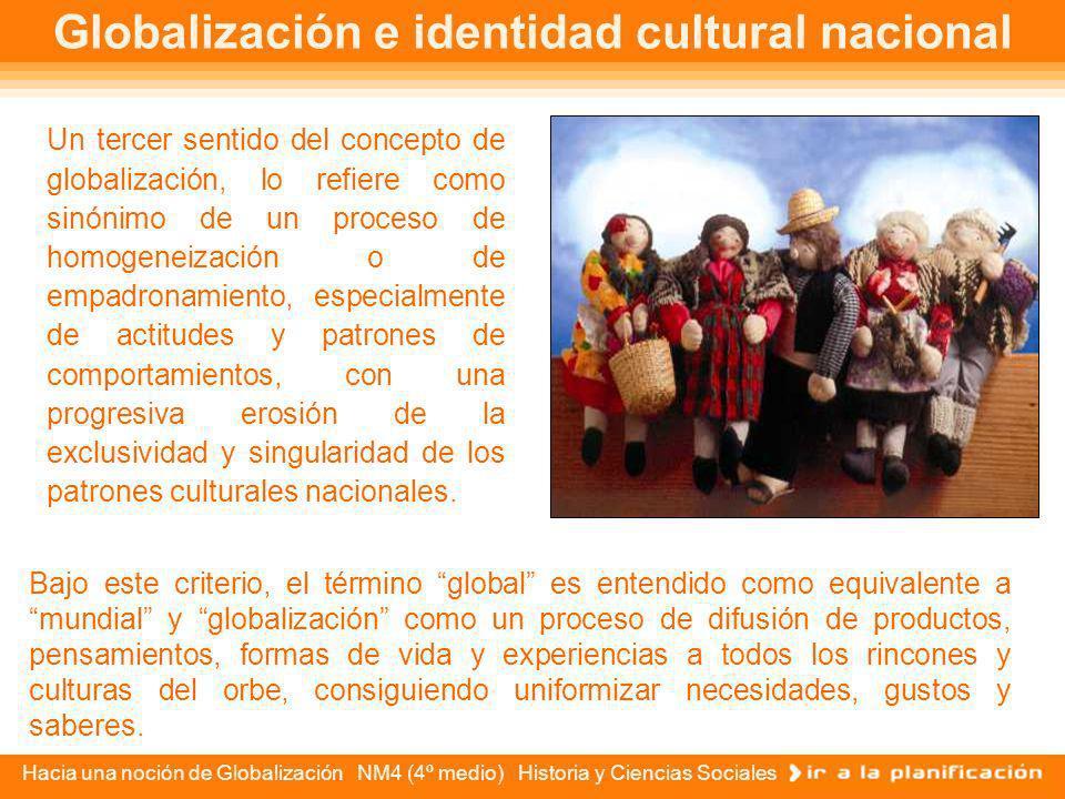 Globalización e identidad cultural nacional