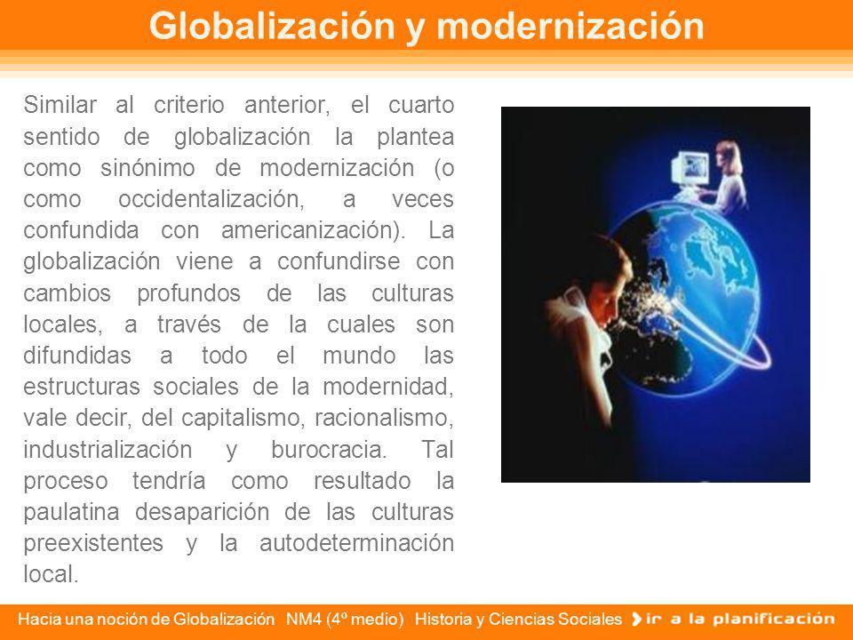 Globalización y modernización