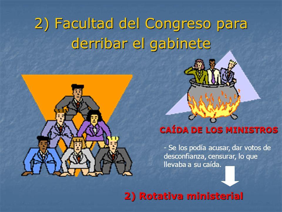 2) Facultad del Congreso para derribar el gabinete